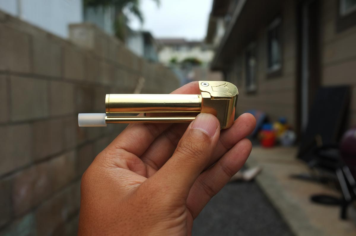 Shaka Pipe Unique All In One Brass Smoking Pipe Re