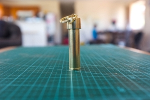 All Brass Bullet Case Stash Tube