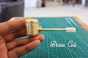 """Brass Cob"" Pipe - Unique Cleanable Brass Pipe Reminiscing Your Favorite Corn Cob Pipe"